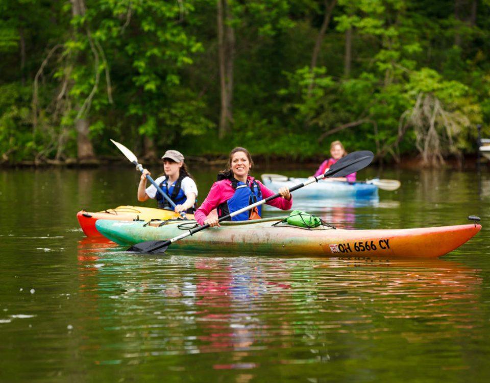 Kayaks on the Move - Photo Peter Emmett