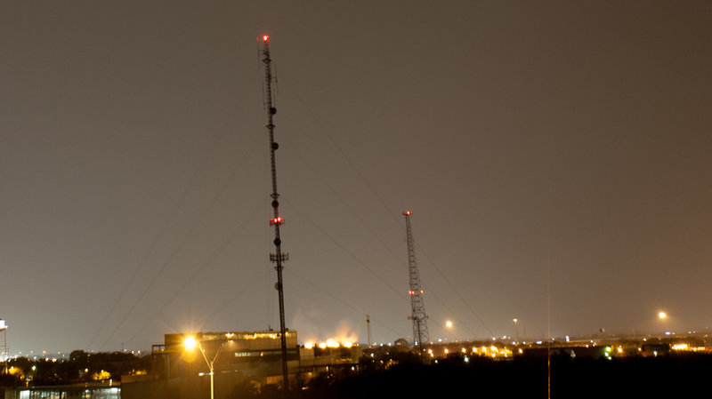 Broadcast Towers with Lights