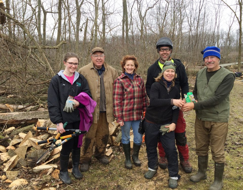 Calamus Swamp: the repair crew takes a break