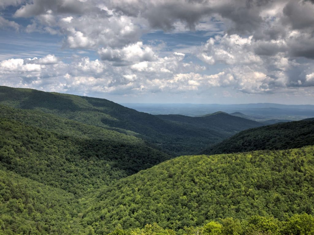 View Over Appalachian Trail from Skyline Drive - Photo Terry Robinson