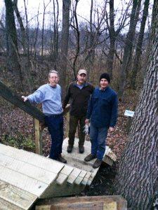 Al Blyth, Tom Sheley, Chuck Blyth at Calamus Stairway Project 12-20-17