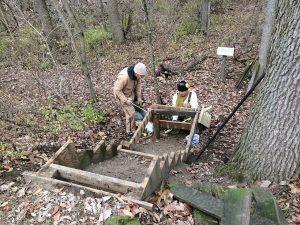 Good Bones: Al and Chuck Blyth at Calamus Swamp 12-18-17 - Photo Tom Sheley
