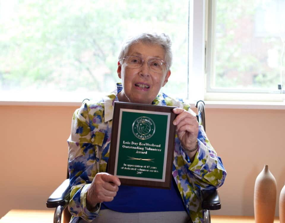 Lois Day with EcoWeekend Volunteer Award