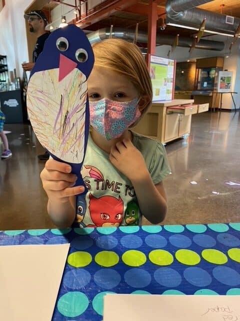 Young Birder Crafting a Bird - Photo Sheila Fagan