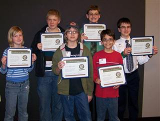 Young Birders Awards at CA Annual Meeeting