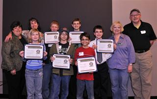 Central Ohio Young Birders Display Their Awards at the CA Annual Meeting