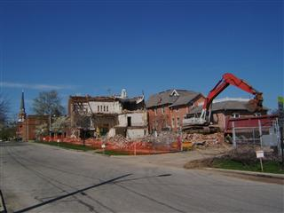 Almost gone, the armory on 21 April 2011.