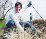 Service volunteers even get to play in the dirt!