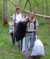 Clearing Invasive Garlic Mustard (photo courtesy Terry Smith)